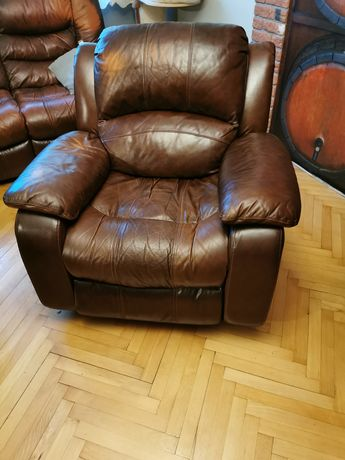 Kanapa skóra naturalna i fotel