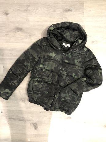 Куртка пуффер камуфляж женская парка