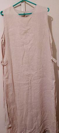 Летнее платье со льна 50 (L-XL)