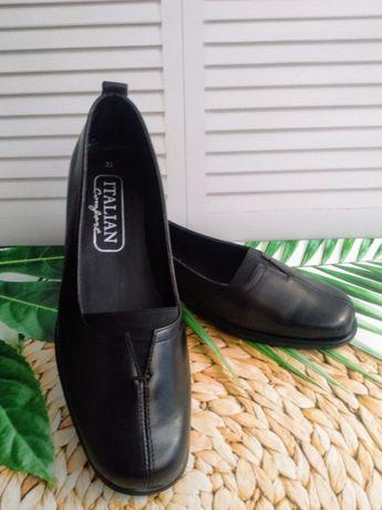 Кожаные туфли Italian comfort Италия 39 размер- 25,5 см