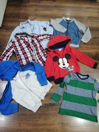 Paka 110-116. Bluza h&m adidas. koszula
