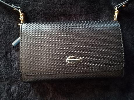 LACOSTE nowa mała torebka portfel prawdziwa skóra