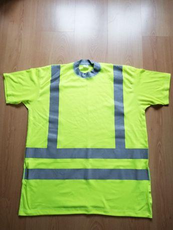 Koszulka roz. L t-shirt, odblaski, na 170-182 cm wzrostu