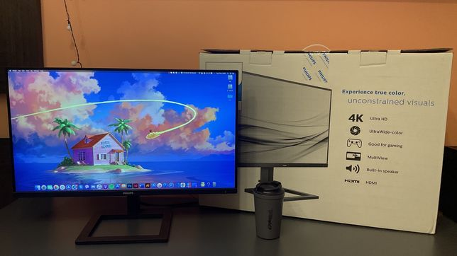 "Монітор 28"" Philips 288E2A/00 4K UHD, IPS, Гарантія!"