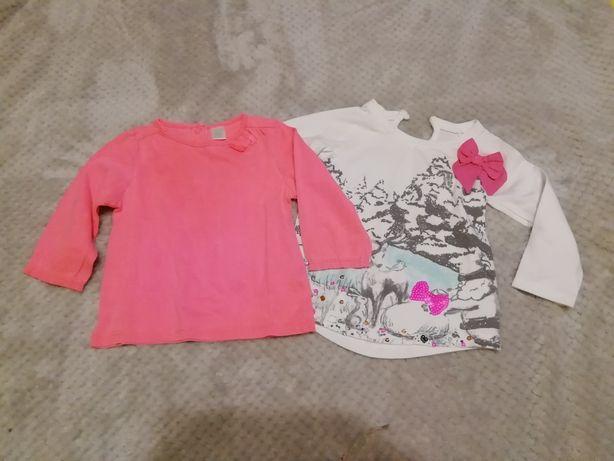 Koszulk dla dziewczynki na długi rękaw zestaw