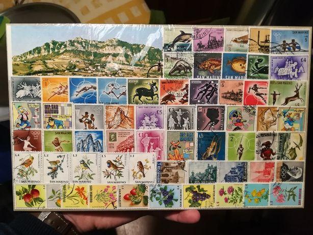Znaczki pocztowe San Marino, Włochy..