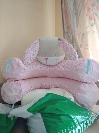 Mothercare заяц - надувная круг подушка-позиционер,для кормления и игр