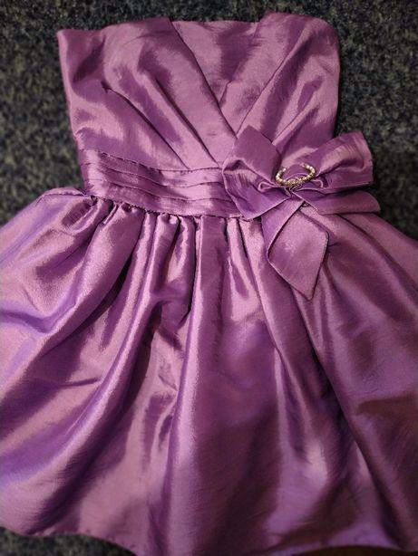 Лиловое платье Charm для утренника выпускного дня рождения 6-8 лет.
