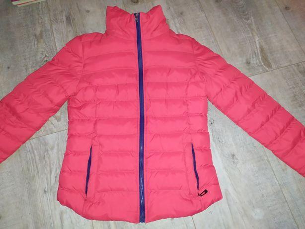 Czerwona pikowana kurtka r.  XS S