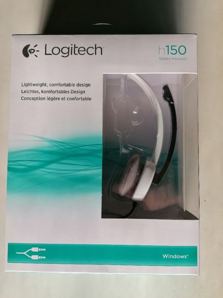 Headset Logitech h150 Stereo com Microfone (novo)