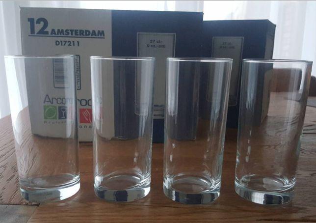 21 sztuk Komplet dekoracja stołu / szklanki / szkło / wysokie 13,5 cm