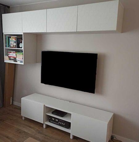 IKEA Besta - zestaw mebli (szafka RTV + półki ścienne)