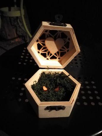 Skrzynka na koperty pudełko obrączki koszyczek rustykalna rustykalne