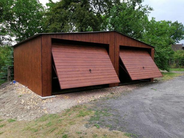 Garaż blaszany 6x6 drewnopodobny PRODUCENT