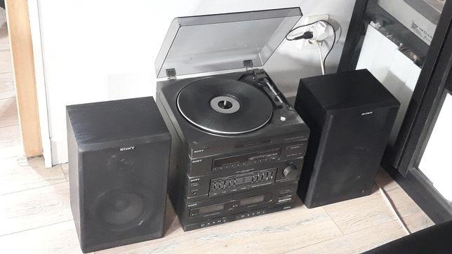 Wieża Sony z gramofonem