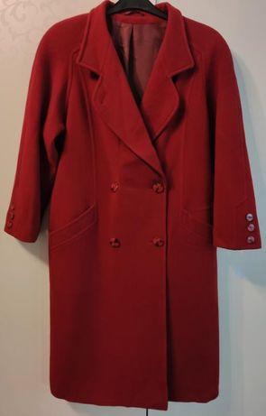 Кашемировое пальто-кокон красного цвета petite mademoiselle
