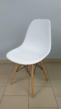NOWE Krzesło białe milano enzo skandynawskie 553ab do salonu kuchni
