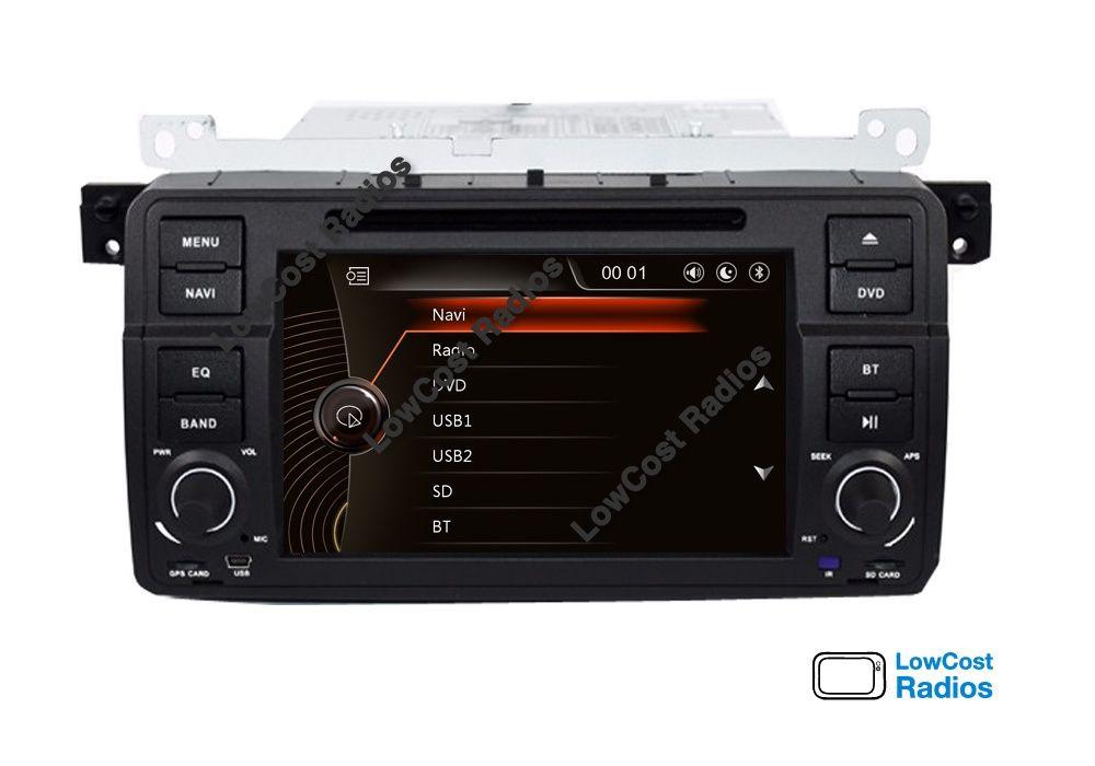 Auto Rádio GPS Ecrã Tátil: BMW E81, E90, E46, E39, E53, F10, F20, F30