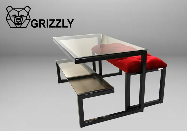 Журнальний столик з бенкеткою(loft)