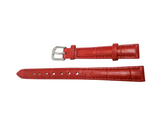 Pasek do zegarka Jinshoulian 12 mm czerwony.