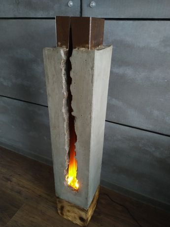Lampa loft beton industrialna