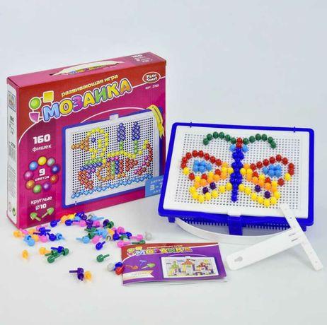Развивающая мозаика пуговицы Play Smart 2701, 160 разноцветных фишек