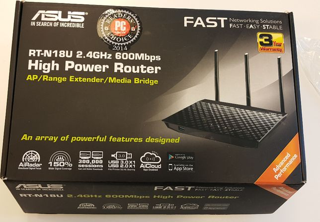 Router ASUS RT-N18U 2.4GHZ 600Mbps