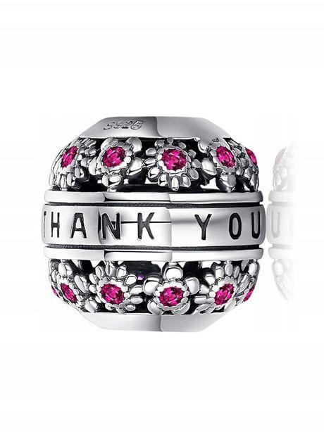CHARMS do bransoletki Pandora BEADS I thank you S925