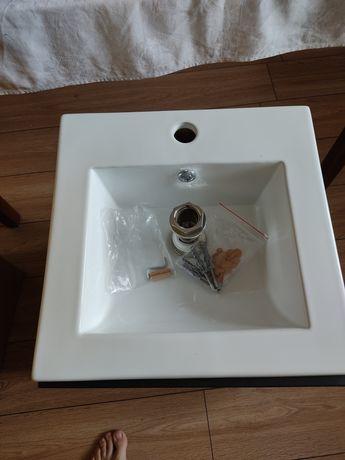 Szafka umywalkowa łazienkowa Aruba z umywalką i korkiem zestaw