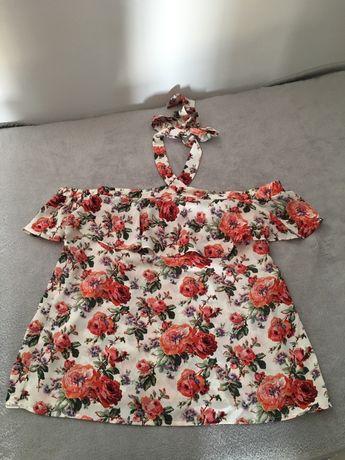Bluzka hiszpanka kwiaty L/XL