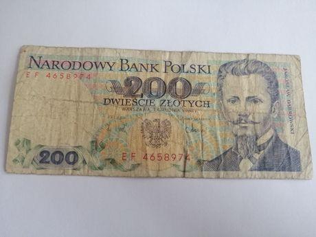 200 zł 1988 seria EF