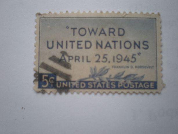 Znaczek 5centów Toward USA 1945