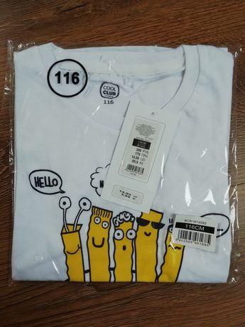 Sprzedam nową koszulkę oraz t-shirt dla chłopca rozmiar 116