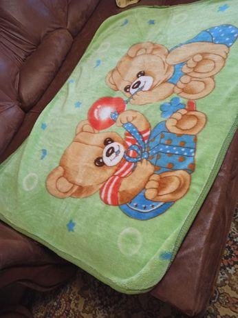 Одеяло-плед детское велюровое