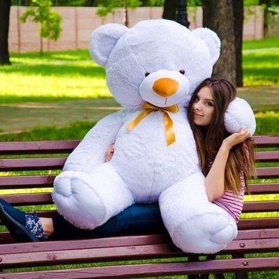 Мишка плюшевый большой пузатый медведь на подарок девушке