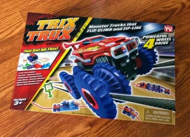Trix Trux Конструктор автомобильный с машинкой - канатный детский трек