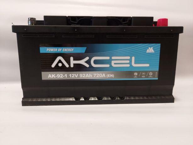 Akumulator 12V Akcel 92AH 720A P+