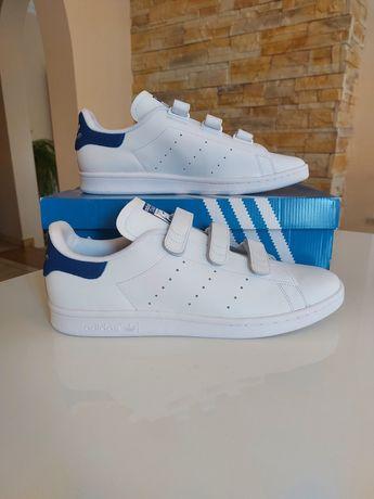Buty Adidas Smith CF r. 46 2/3 rzepy white blue