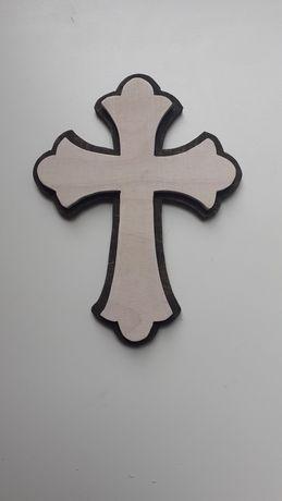 Handmade Krzyż drewniany wiszący.