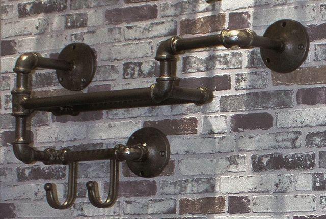 Garderoba wieszak półka przedpokój loft industrial Abbigail Haku