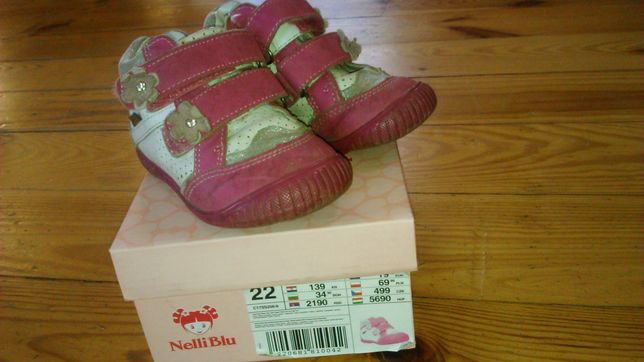Buty różowo-białe rozm. 22
