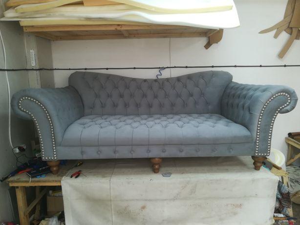 Перетяжка диванов профессионально