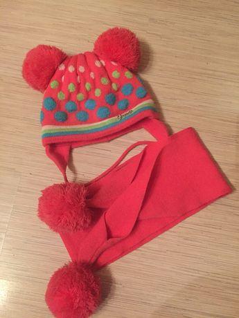 Шапочка и шарфик для девочки 2-3 года