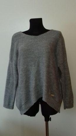 Sweter damski szary, nowy, rozmiar uniwersalny, okazja, najtaniej