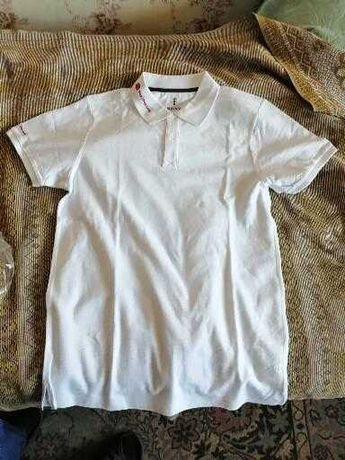 Тениска мужская белоснежная