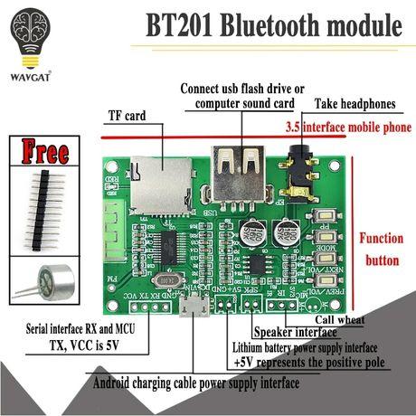 Блютуз ресивер, 5,0 Bluetooth без потерь аудио усилитель. DC 5V. AUX