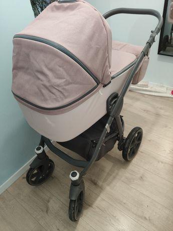 Prześliczny wózek riko marla 2w1 na gwarancji różowy pastelowy