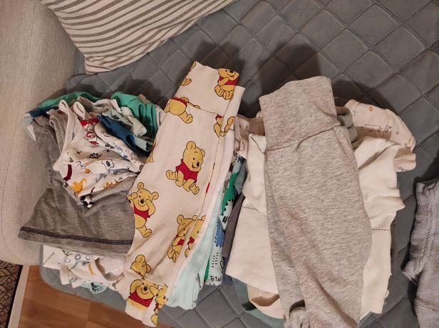 Ubranka dziecięce paczka zestaw 56-62