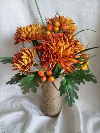 цветы ручной работы, интерьерный букет