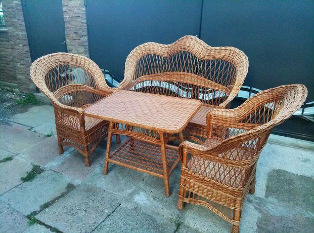 Мебель плетеная из лозы для дома, летних терас и кафе